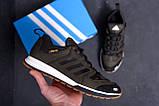 Мужские кожаные кроссовки Adidas A565 Green  (реплика), фото 9