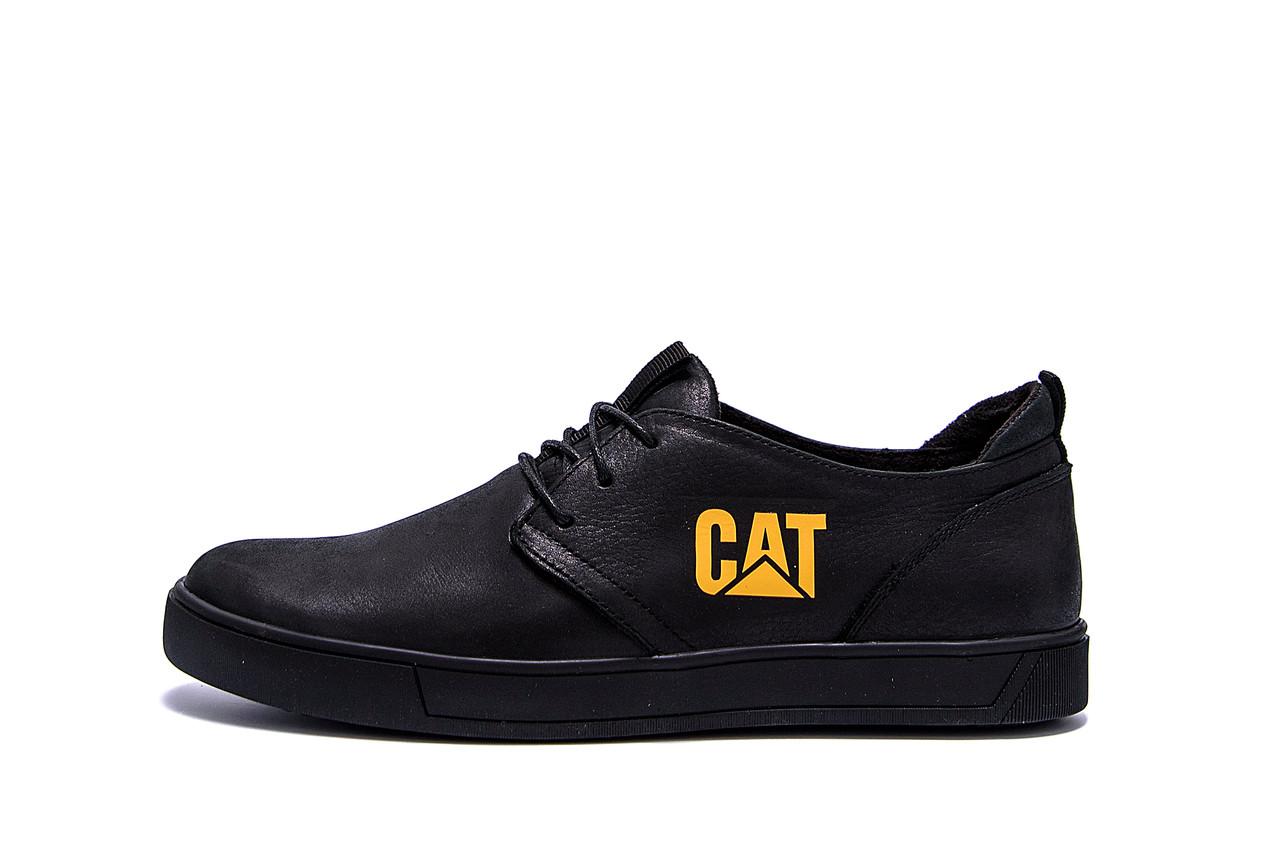 Мужские кожаные кроссовки CAT  (реплика)