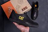 Мужские кожаные кроссовки CAT  (реплика), фото 7