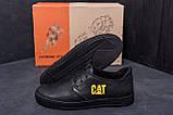 Мужские кожаные кроссовки CAT  (реплика), фото 8