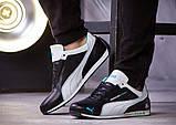 Мужские кожаные кроссовки Puma Mersedes Amg Petronas (реплика), фото 7