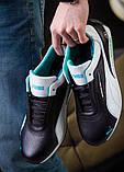 Мужские кожаные кроссовки Puma Mersedes Amg Petronas (реплика), фото 8