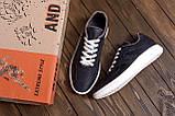 Мужские кожаные кроссовки YAVGOR Blue (реплика), фото 10