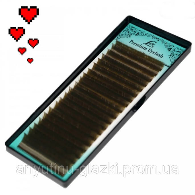 Вії LEX Dark Chocolate mix CC 0.10 8(3)9(3)10(5)11(5)12(4)