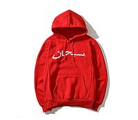 Топовая красная кофта бренда с капюшоном мужская женская на подарок