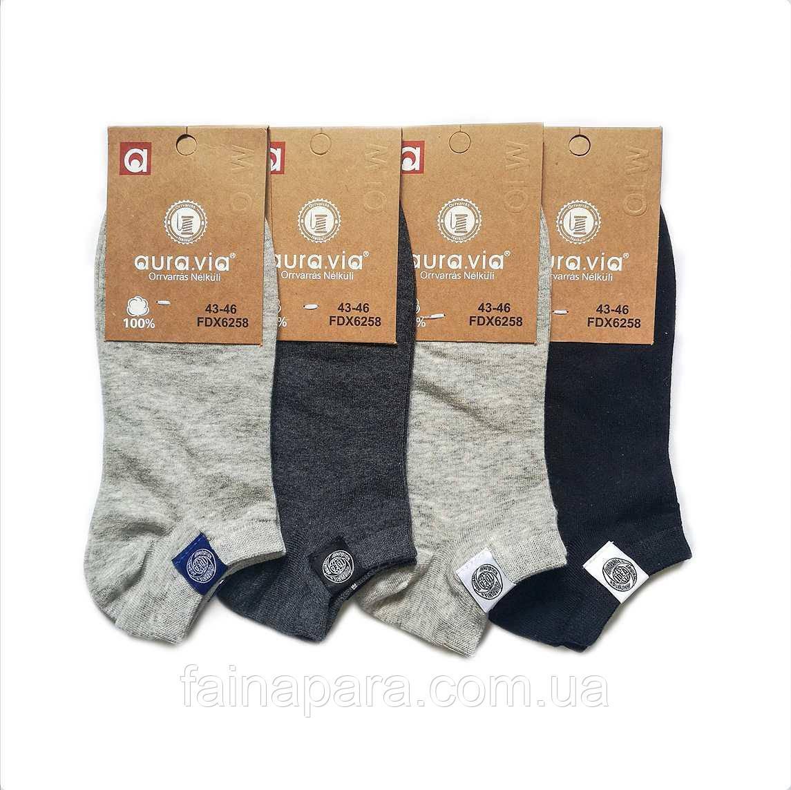 Короткі однотонні чоловічі шкарпетки Aura Via
