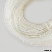 Шнур Вощеный Полиэстер, Диаметр: 1 мм, Цвет: Белый (80м/связка)