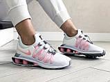 Модные женские кроссовки Nike Shox Gravity,белые с розовым, фото 4