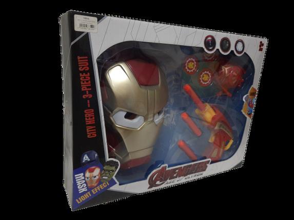 Игровой набор Железный человек (маска+оружие) Avenger Мстители, фото 2