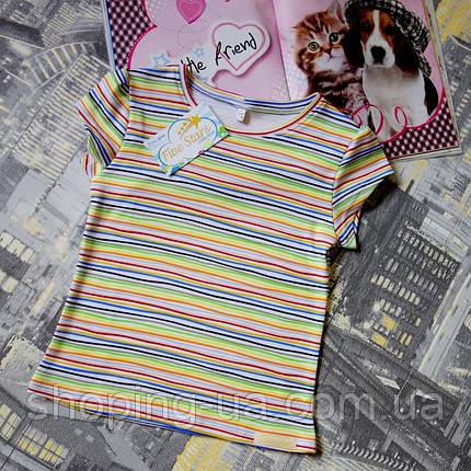 Детская футболка разноцветная полоска Five Stars KD0310-116p, фото 2