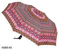 Женский зонт  полуавтомат розовый геометрия, фото 1
