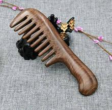 Гребень с редкими зубьями для волос из сандалового дерева