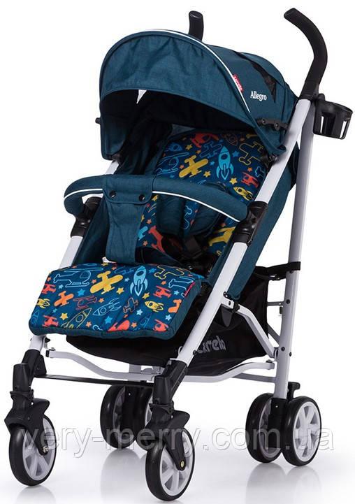 Прогулянкова коляска-тростина Carrello Allegro (синій колір)