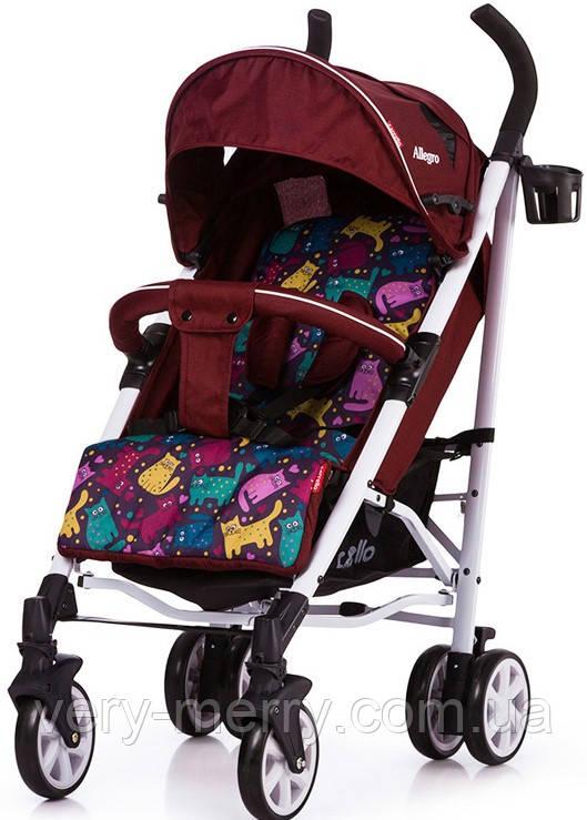 Прогулочная коляска-трость Carrello Allegro (красный цвет)