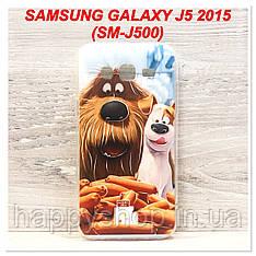 Силиконовый чехол с рисунком для Samsung Galaxy J5 2015 (SM-J500) The Max & Duke