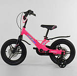 Велосипед детский двухколесный магниевая рама и диски 14 розовый Corso MG-16086, фото 2