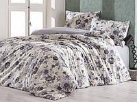 Синий комплект постельного белья Marie Claire Paris Турция Евро Ранфорс