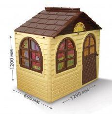 Будиночок зі шторками Doloni маленький бежевий (02550)