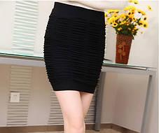 Стильная мини юбка карандаш оригинального дизайна, фото 3