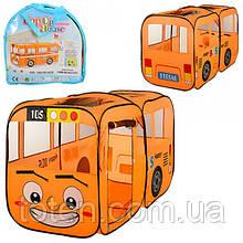 """Намет ігровий M 1183 """"Веселий автобус"""", 156-78-78 см, двері, вікна-сітки, сумка"""