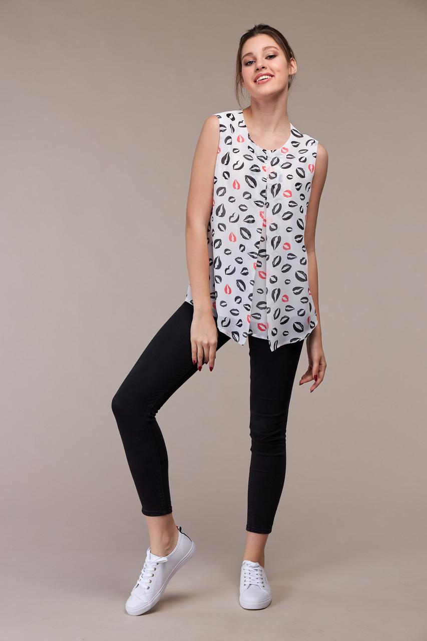Лёгкая летняя блузка, размер от 44 до 48