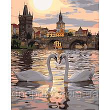 "Картина по номерам Птицы ""Романтичная Прага"", 40х50 см, 3*"