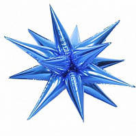 Ежик бант на коробку синий (12230)