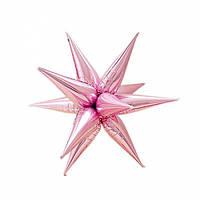 Ежик бант на коробку розовый (12235)