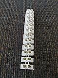 З'єднувач Клемна колодка термостійка, біла, 10 А, 10 мм клемник, фото 3