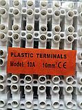 З'єднувач Клемна колодка термостійка, біла, 10 А, 10 мм клемник, фото 4
