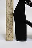 Модні жіночі босоніжки-римлянки, чорні на підборах. Жіночі модні босоніжки-рімлянки, чорні на підборах., фото 7