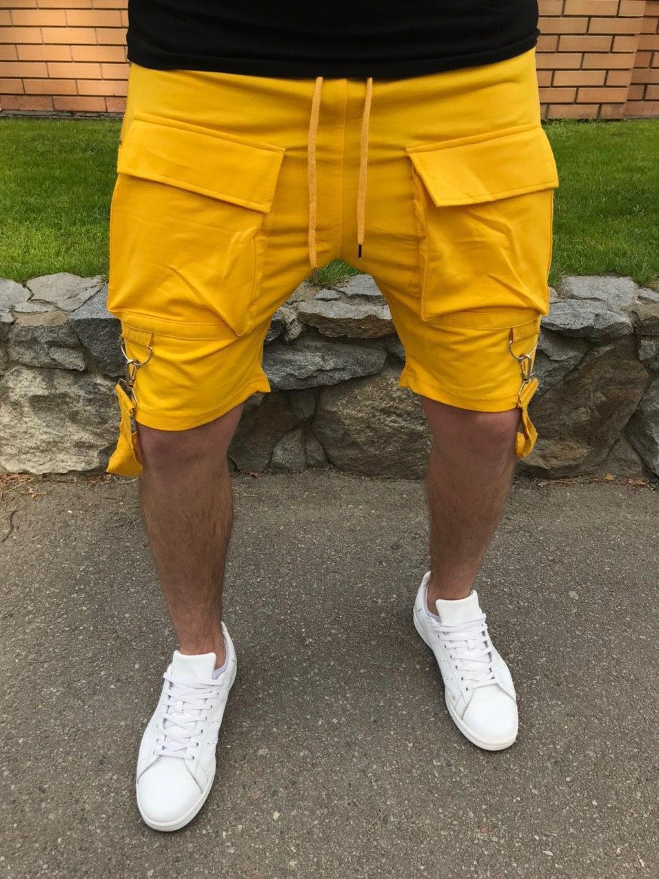 😜 Шорты - Мужские шорты с карманами желтые