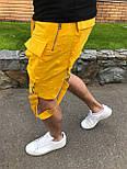 😜 Шорты - Мужские шорты с карманами желтые, фото 3