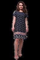 Платье женское прямого силуэта с купон принтом C740S-3
