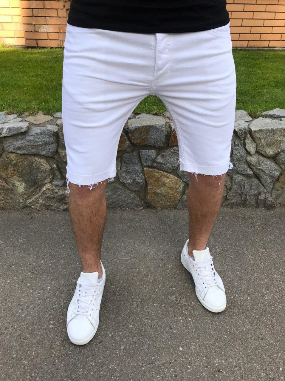 😜 Шорти - Чоловічі шорти білі класичні