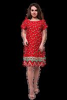 Платье женское прямого силуэта с купон принтом C740S-6