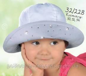 Детская летняя панамка для девочки двухцветная (AJS, Польша)