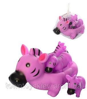 Детская игрушка для купания 6286 с пищалкой ((Зебра))