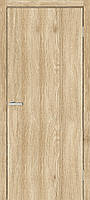 Двери межкомнатные Омис Гладкая глухая экошпон,  цвет сосна мадейра дуб саванна