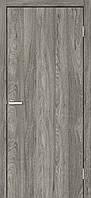 Двери межкомнатные Омис Гладкая глухая экошпон, цвет венге дуб денвер