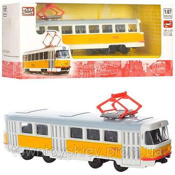 RUS Модель трамвай PLAY SMART 6411 A/B/C/D (6411B)