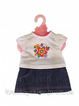 Кукольный наряд DBJ-455-468 (Белая футболка)