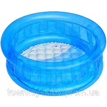 BW Бассейн 51112 (BW Бассейн 51112(Blue) Синий детский, круглый, надувное дно, в кор-ке, 64-25см)