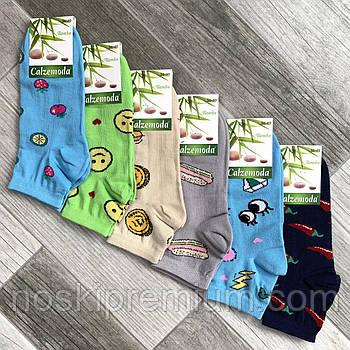 Шкарпетки жіночі демісезонні бамбук Calze Moda, Туреччина, розмір 36-40, асорті, 03563