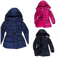Пальто пуховик зимний для девочки 98-152см