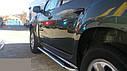 Пороги боковые (подножки-площадка) Dacia Duster 2010+ (Ø51), фото 2
