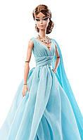 Кукла барби силкстоун Голубое шифоновое платье -Barbie Fashion Model Collection Blue Chiffon Ball Gown Barbie