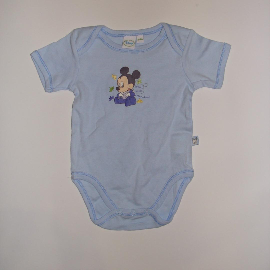 Боди для ребенка короткий рукав голубой  Микки Disney р.68cм (3-6мес)