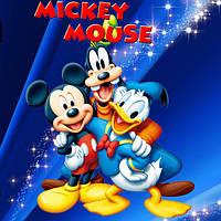 """Набір для капкейків: """"Міккі Маус"""" топпери і накладки на кошики (8+8+1+1)-малотиражні видання-"""