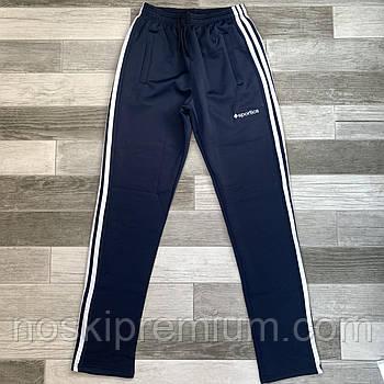 Штани спортивні чоловічі еластик без манжета Sportics, розміри 46-54, темно-сині, ЭБМ 0130/04